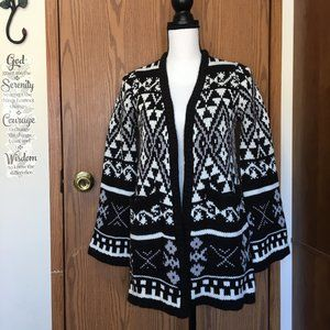 Joe Boxer Thick Cardigan Bell Sleeve Sweater